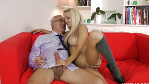 Succulent diva Lou Lou yearns for a giant fat cock