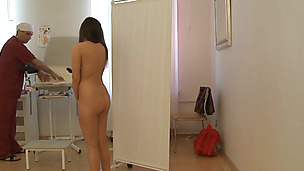 Gyno exam for the marvelous looking Marta B. gets sexual