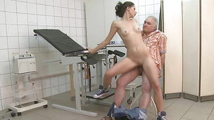 Slutty Petra is giving a blowjob to a hunk who is not her husband